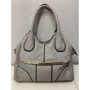 Bellaluca Gray & Black Purse Snake Design A16